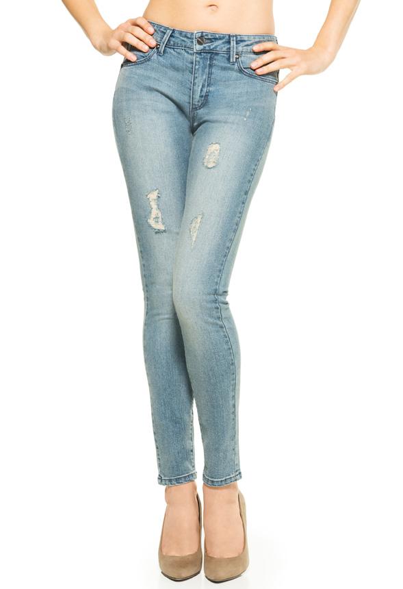 Kläder Signature Skinny Solid i Puderblå Fantastiska
