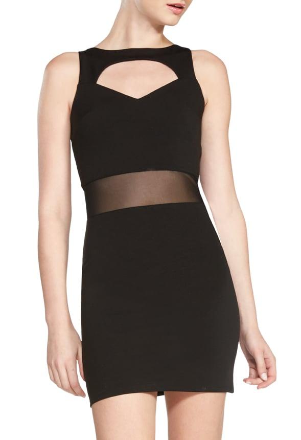 kennedy cut out dress kleidung in schwarz g nstig kaufen bei justfab. Black Bedroom Furniture Sets. Home Design Ideas