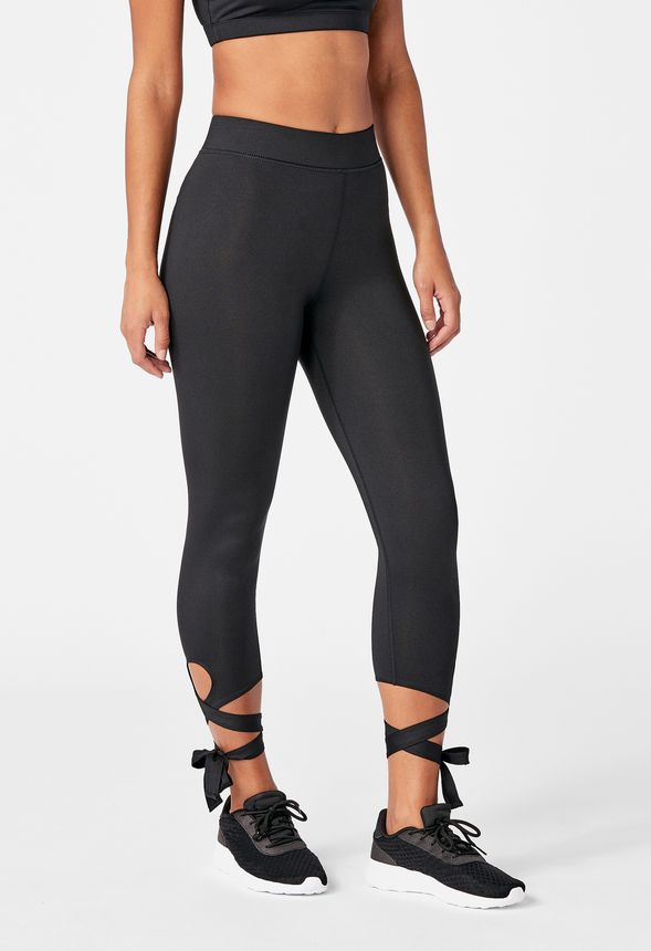 cb5c85e1e58a4 Ballerina Lace Up Active Legging Clothing in Black - Get great deals ...