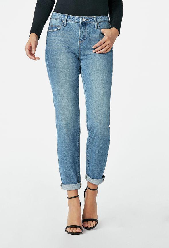 b1f79cf1d4de Relaxed Boyfriend Jeans Kleidung in Blue Oracle - günstig online ...