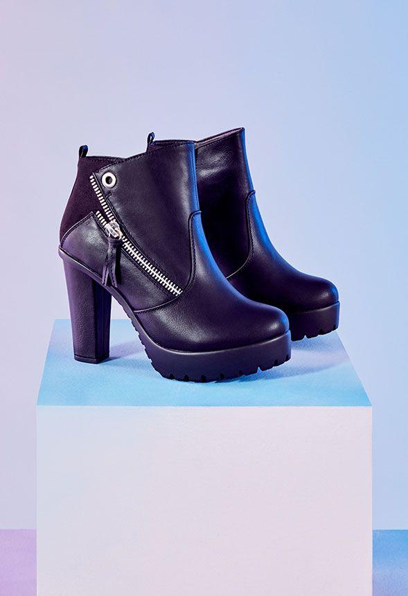 7212942d Zapatos Botines Idora en Negro - Envío gratuito en JustFab
