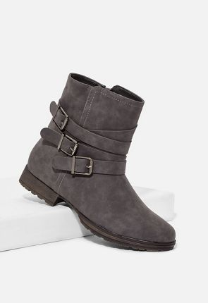 Vaida Burnished Faux Leather Ankle Boot ... ac260dd236