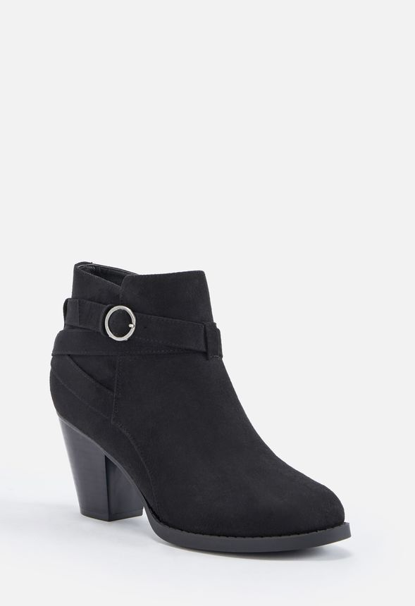 c0d63e1a4445 Freda Block Heel Ankle Boot Shoes in Black - Get great deals at JustFab