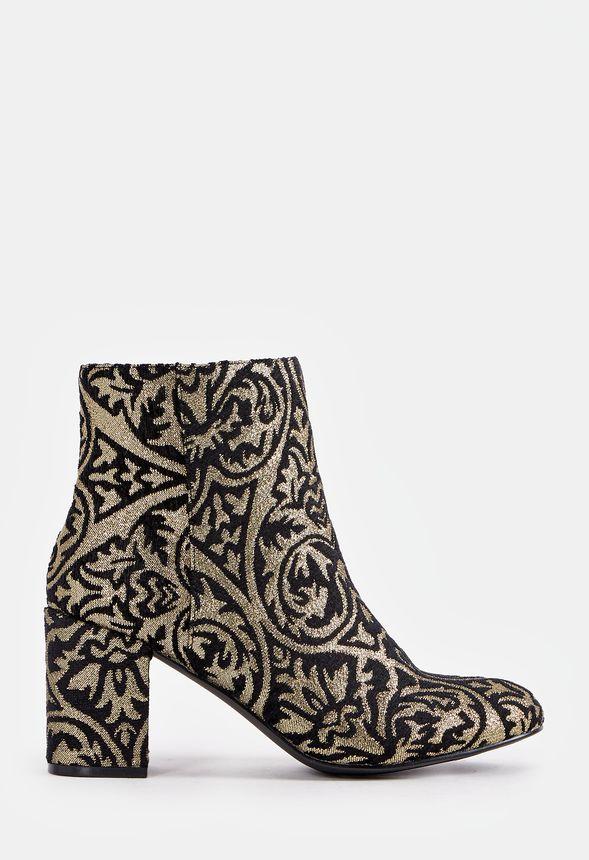 Chaussures Jacinta Bootie Bootie Bootie en Noir Doré Livraison gratuite sur JustFab 861ede