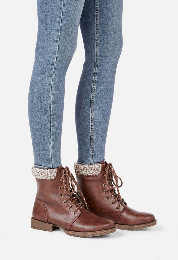 chaussures bottes nyaling en marron livraison gratuite sur justfab. Black Bedroom Furniture Sets. Home Design Ideas