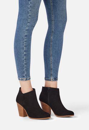 d2a9448f08b Western Wilde Block Heel Ankle Boot Western Wilde Block Heel Ankle Boot