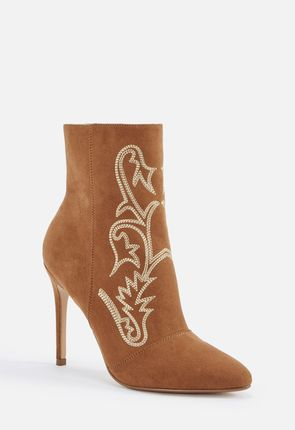 c5171f3ab6e Out West Embroidered Stiletto Bootie ...
