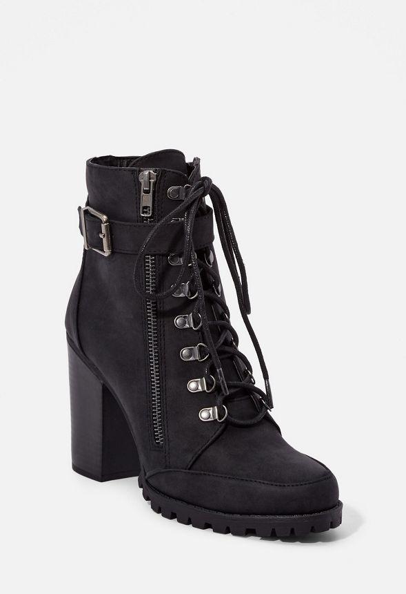 Pracida Lace-Up Ankle Bootie Schuhe in Schwarz - günstig online ... 92d41d9d6e