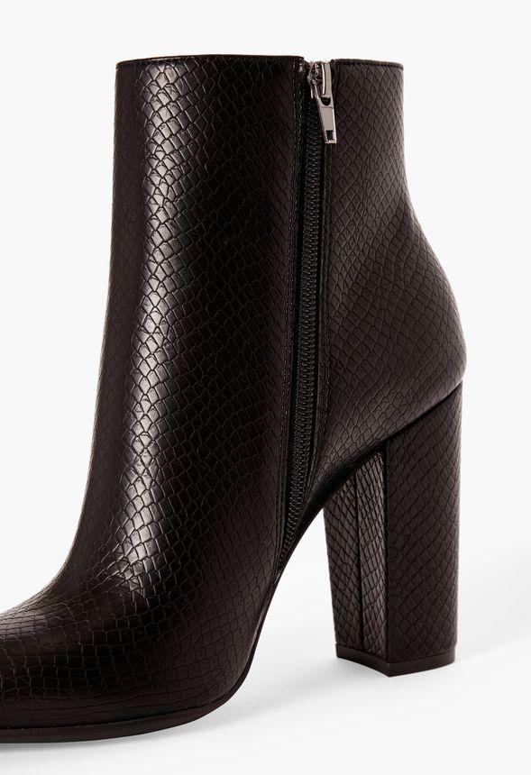 Chaussures Bottines Rosamund en Python Noir Livraison