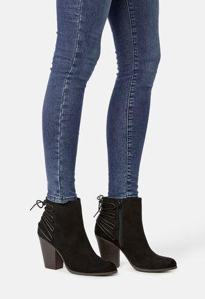 939f74c8dfe ... Olivette Tie Back Heeled Ankle Boot
