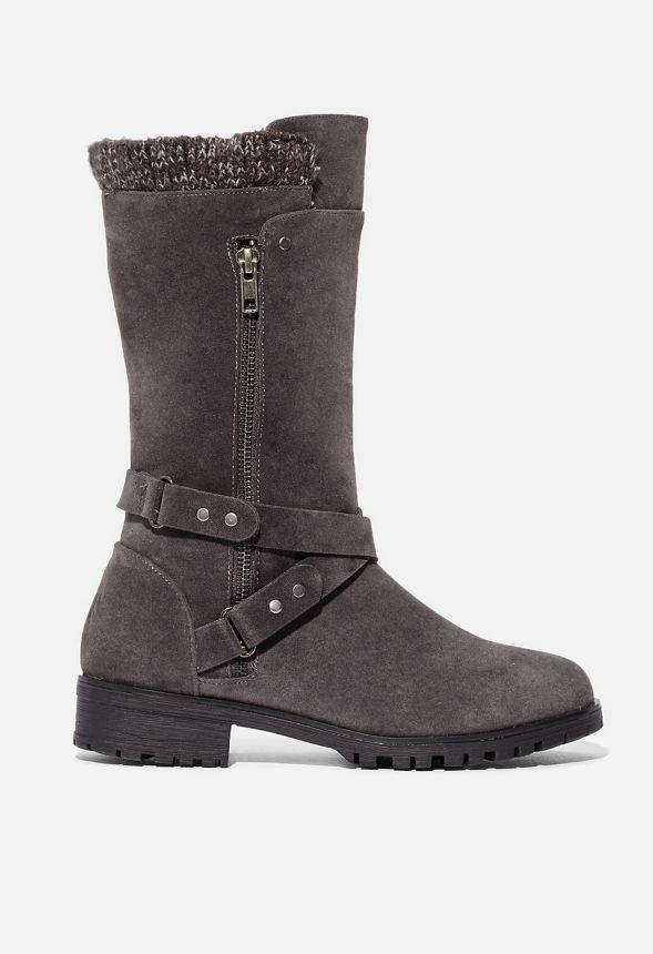 Emmylou flache Stiefel Schuhe in Grau günstig online