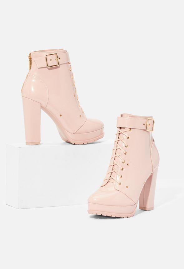 Stephy Platform Hiker Ankle Boot Shoes