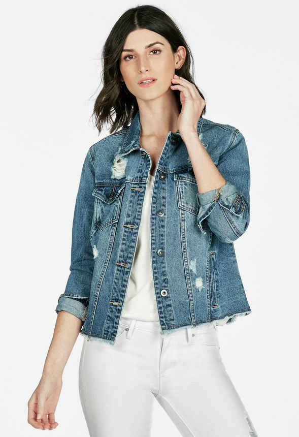 Destroyed Denim Jacket