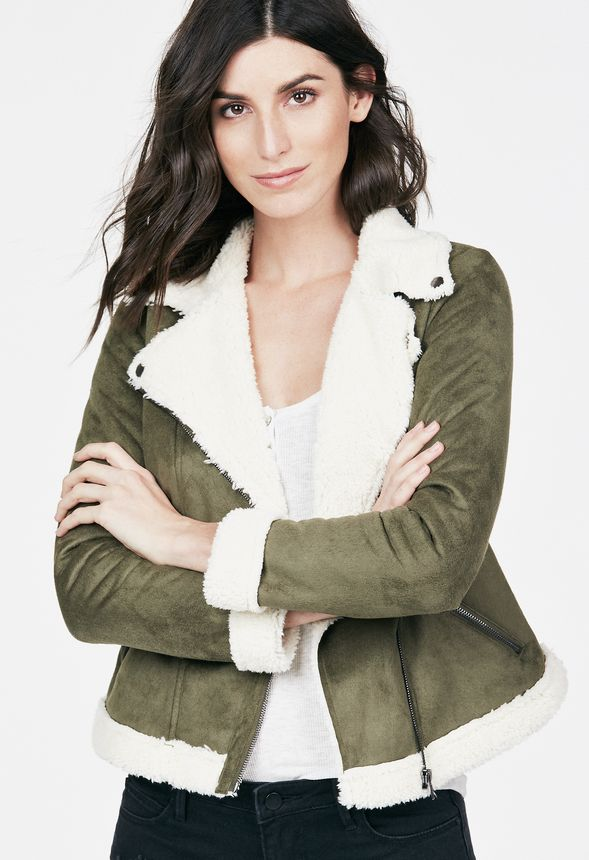 6e8baa2da Aviator Jacket Clothing in Dark Olive - Get great deals at JustFab