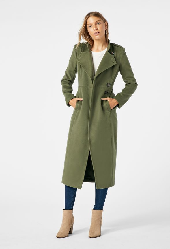military faux wool coat clothing in dark olive get great deals at