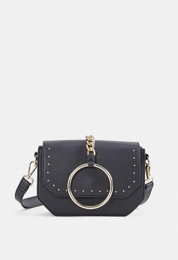 8eb0e50a87960 Sloan Ring Crossbody Bag Handtaschen in Schwarz - günstig online kaufen im  JustFab Shop Deutschland