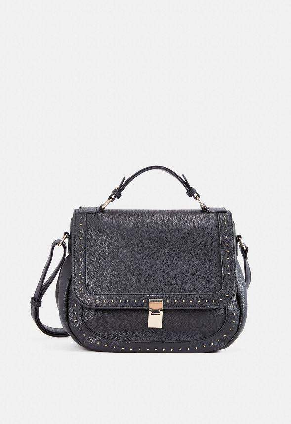6f5ac3c42d9de Holt Studded Crossbody Bag Handtaschen in Schwarz - günstig online kaufen  im JustFab Shop Deutschland