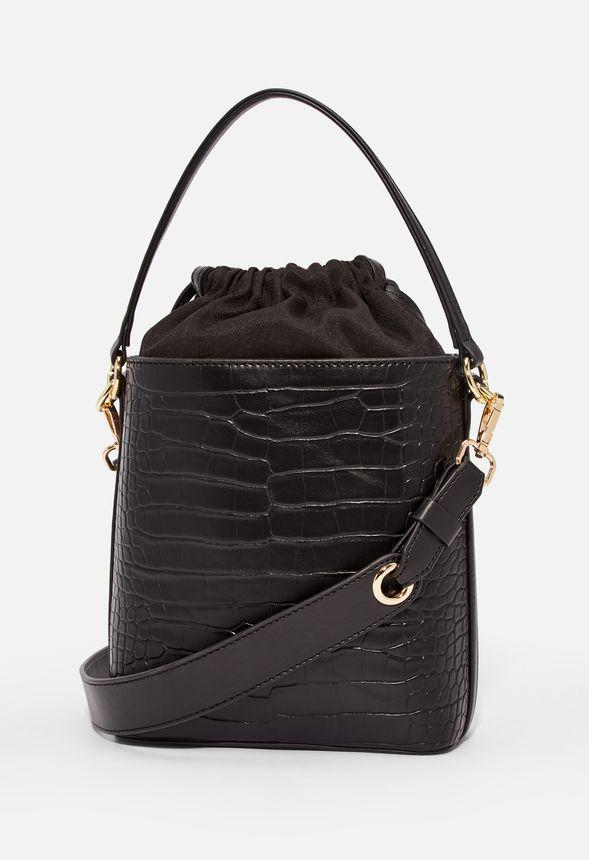avedon umh ngetasche handtaschen in black croc g nstig. Black Bedroom Furniture Sets. Home Design Ideas