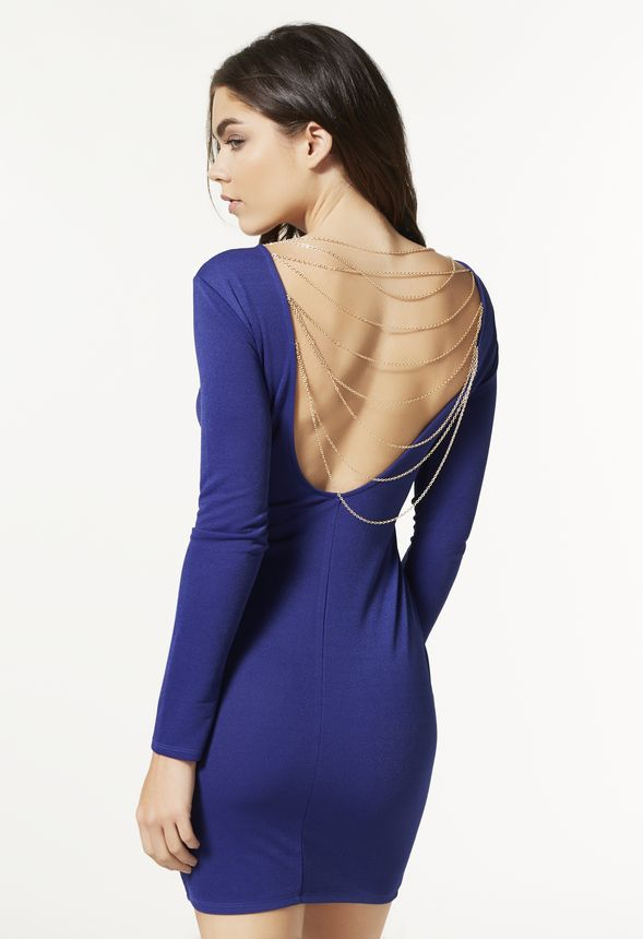 BACK CHAIN BODYCON DRESS
