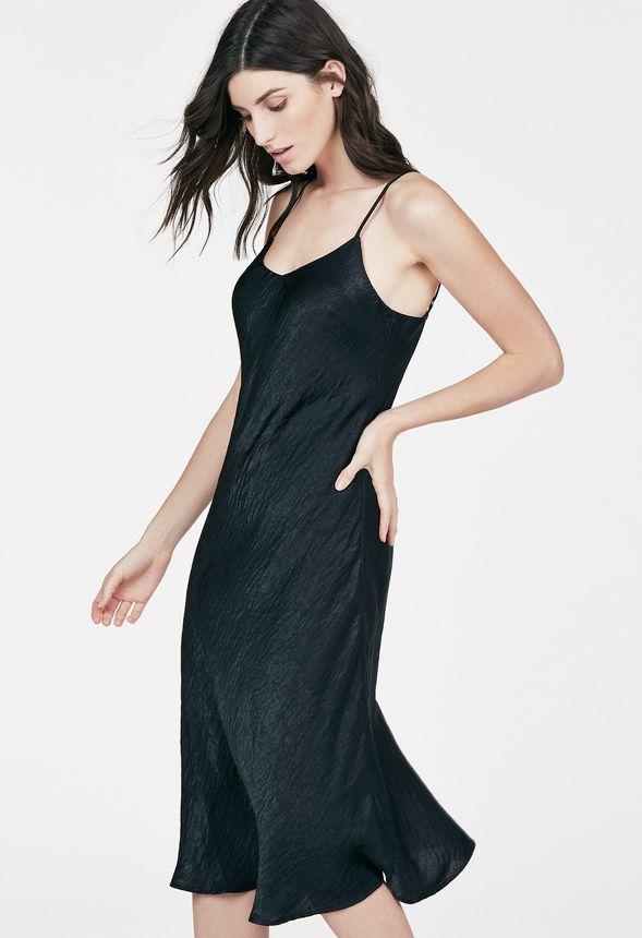 midi slip dress kleidung in schwarz g nstig online. Black Bedroom Furniture Sets. Home Design Ideas