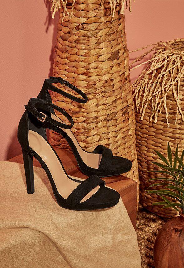 f959fd721c98a1 Zapatos Sandalias de tacón Kati en Negro - Envío gratuito en JustFab