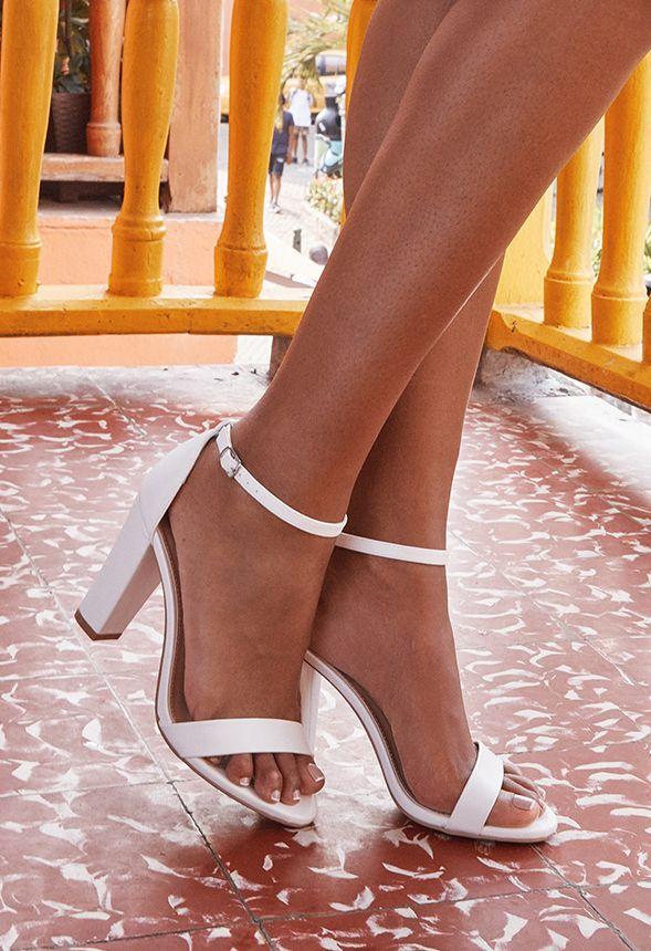 À Talons En Blanc Makemba Livraison Gratuite Chaussures Sandales nkXNO8P0w
