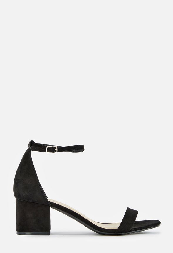 a057863c1c7 Sanoura Low Block Heeled Sandal Shoes in Black - Get great deals at JustFab