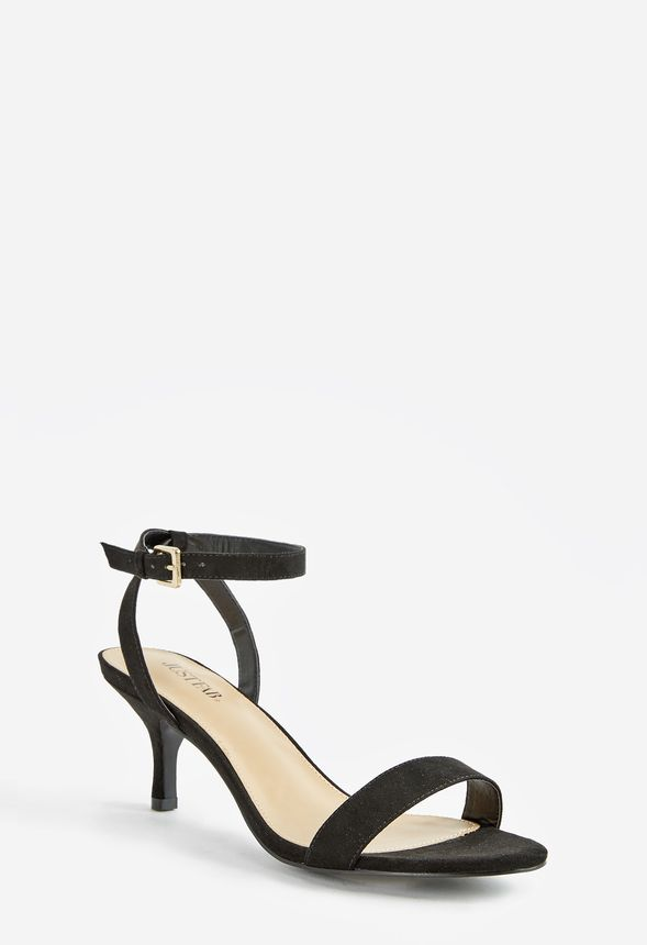 831332cd4be2f6 Trinsey Kitten Heel Sandal Shoes in Black - Get great deals at JustFab