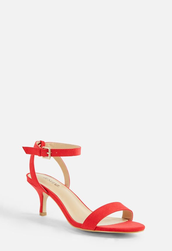 20a3bb909d35 Trinsey Kitten Heel Sandal Shoes in Red - Get great deals at JustFab