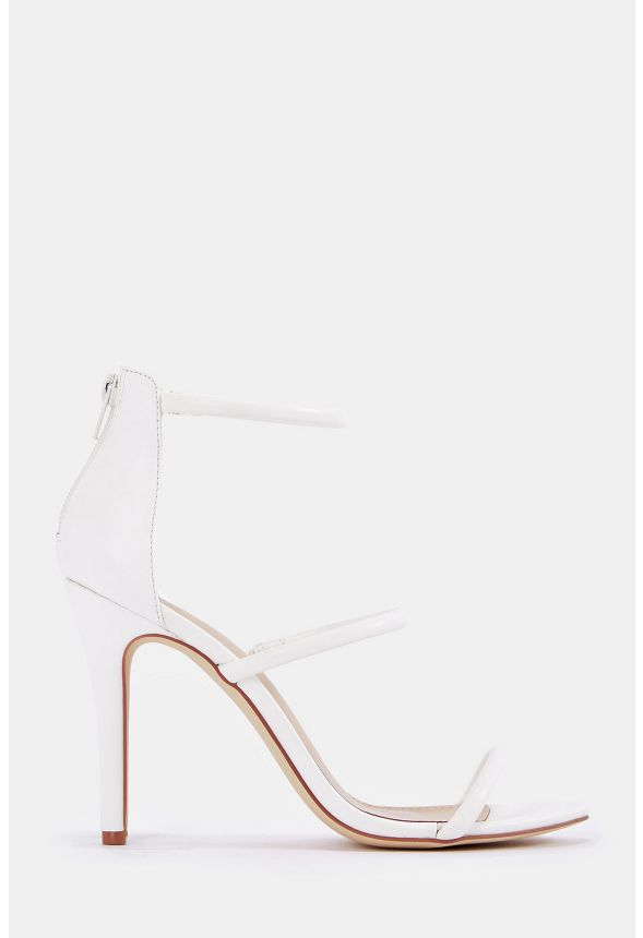 69bbea35385 Ellory Dressy Heeled Sandal Shoes in White - Get great deals at JustFab