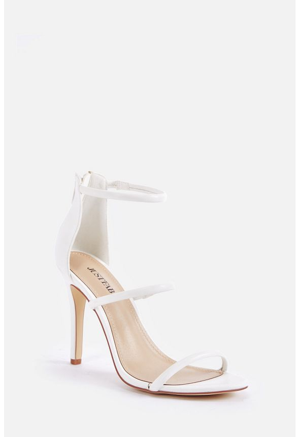 7674326c83179 Ellory Dressy Heeled Sandal Shoes in White - Get great deals at JustFab
