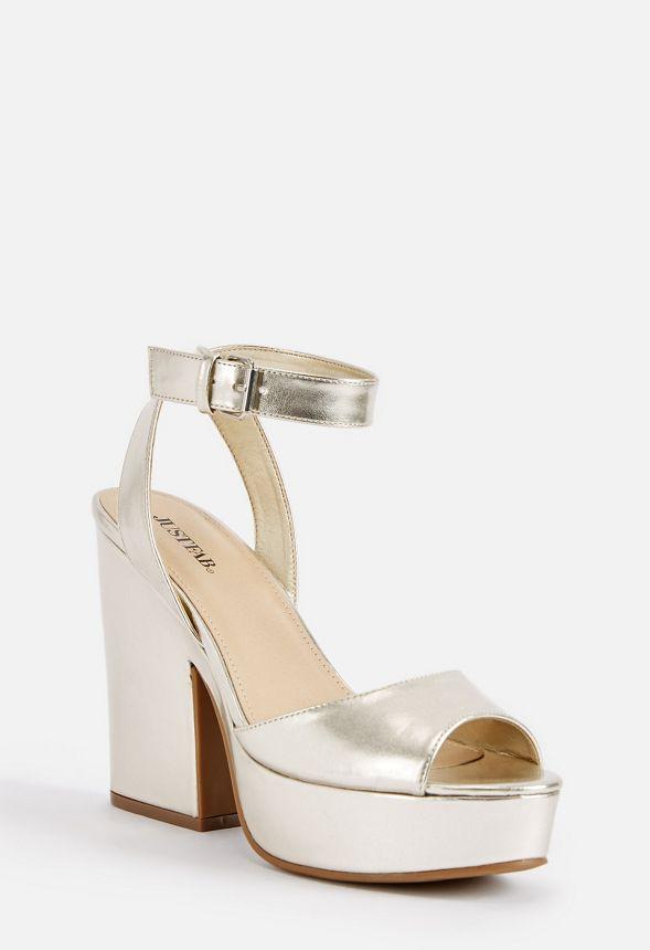 Niki Platform Heeled Sandal Shoes in