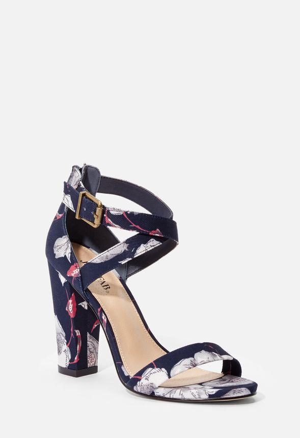 9b033f36daf Higher Calling Heeled Sandal Shoes in NAVY FLORAL - Get great deals ...