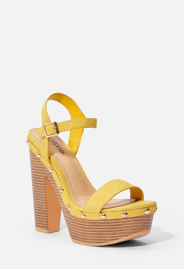 Chaussures Plateforme Et À Jaune Talons Semelle En Sandales Bari 6mbf7IYgyv
