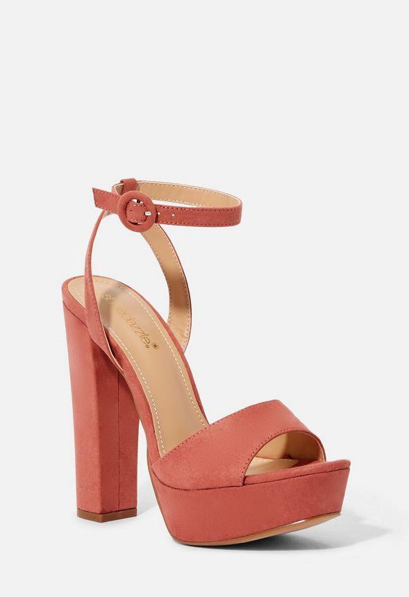 Envío En Justfab Gailey Rosa Sandalias Zapatos De Gratuito Tacón PkZXiTwuO