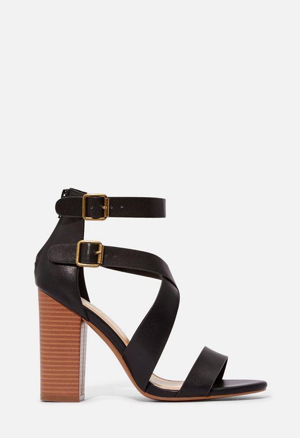 brides Noir en avec Sandales Chaussures Amelia à talons F1lKTJc3u