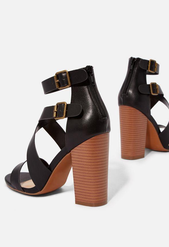Chaussures Sandales à talons avec brides Amelia en Noir