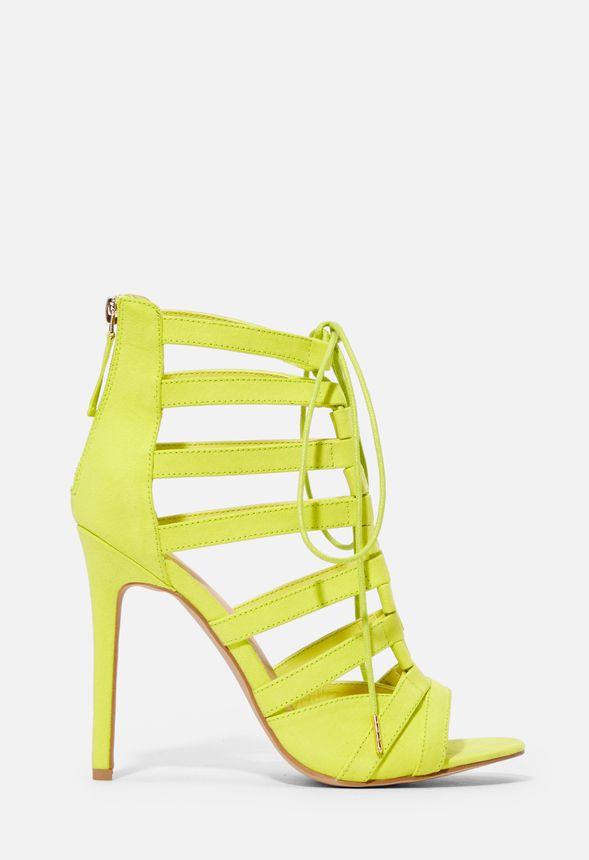 615e2a55857f4f Chaussures Chaussures à talons aiguilles Sadie en Vert chartreuse -  Livraison gratuite sur JustFab