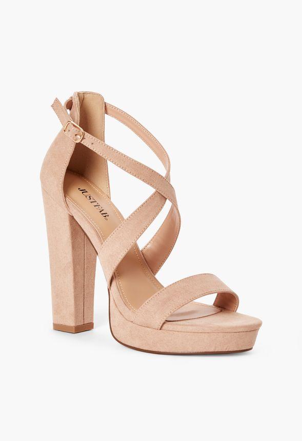 0a0fa665b33 Chaussures Sandales à talons Natalia en Nude - Livraison gratuite ...