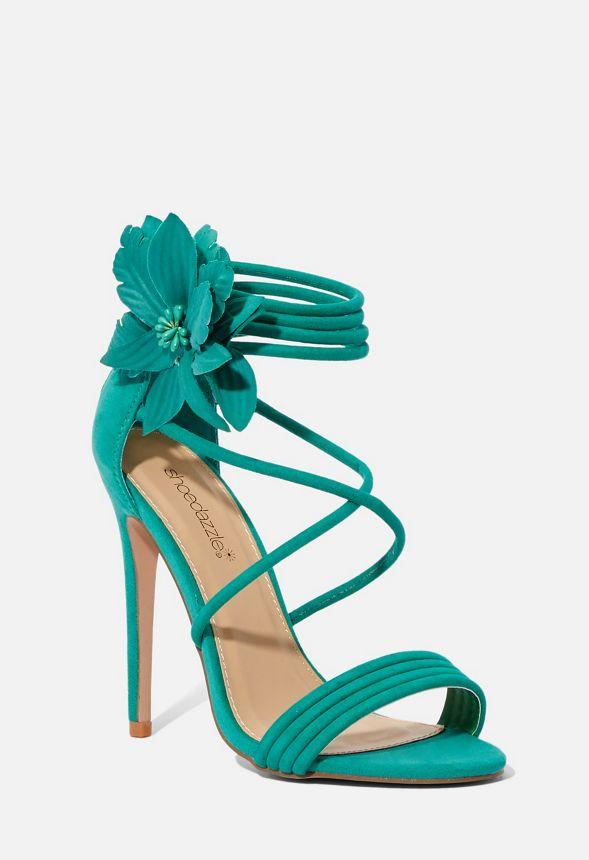 Verde Camilla De Zapatos Sandalias Tacón Envío En Gratuito Justfab wOZiPkuXT