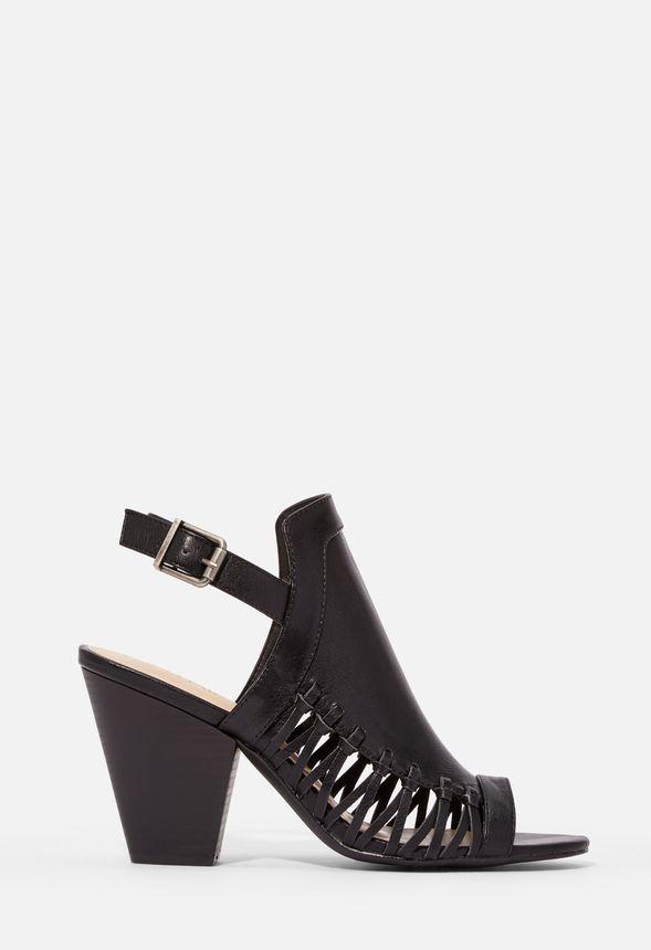 Skor Tate sandaler med klack i Svart Fantastiska