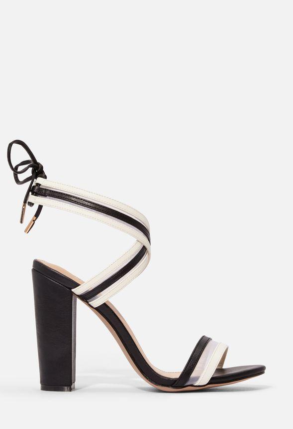 Chaussures Sandales à talons carrés Shantel en NoirBlanc