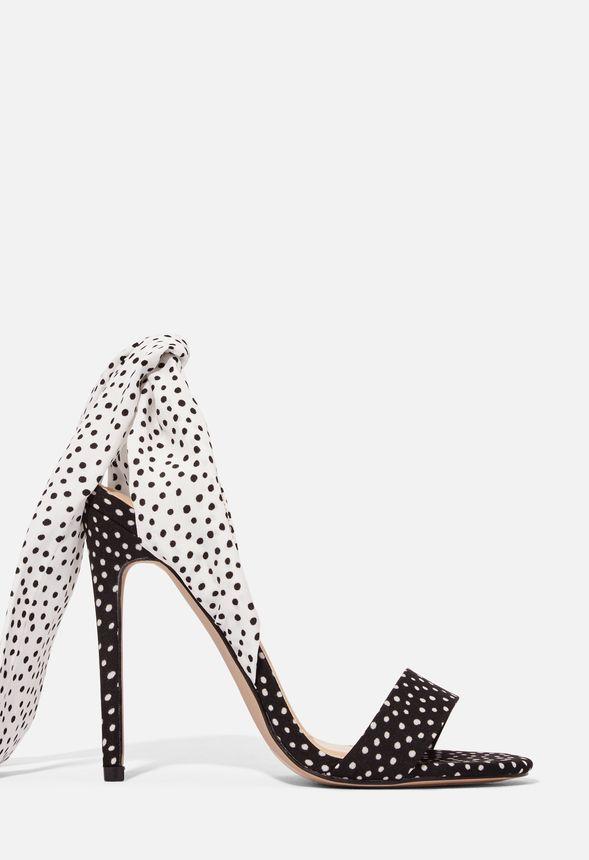 Riza Ankle Wrap Sandal Shoes in BLACK