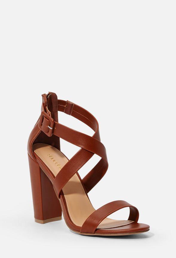 Jennifer Strappy Block Heel Shoes in