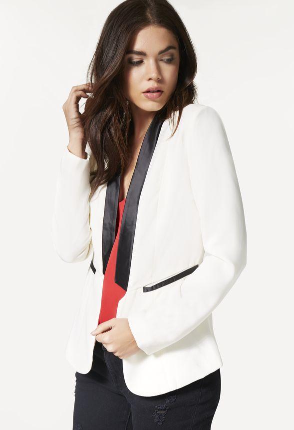 tuxedo jacket kleidung in wei g nstig kaufen bei justfab. Black Bedroom Furniture Sets. Home Design Ideas