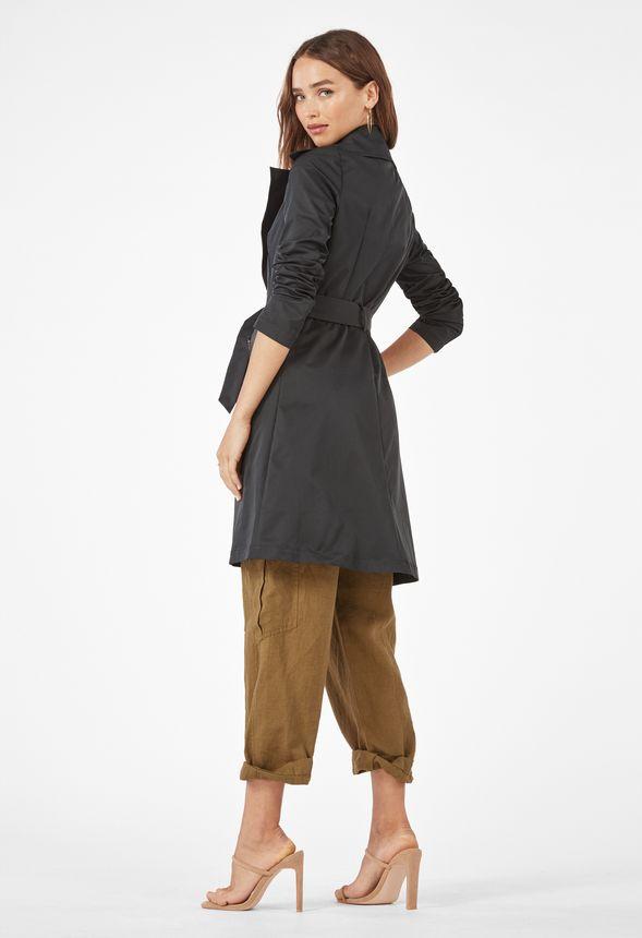 Kläder Fit And Flare Trenchcoat i Svart Fantastiska
