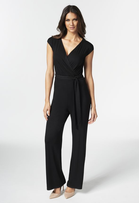 Knit Crossover Jumpsuit