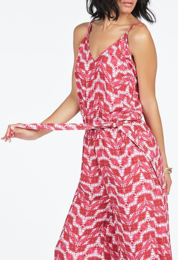 cross strap culotte romper kleidung in pink multi. Black Bedroom Furniture Sets. Home Design Ideas