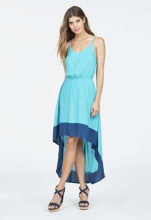 7650f32e8630b0 High Low Colorblock Dress Kleidung in CERAMIC - günstig online ...