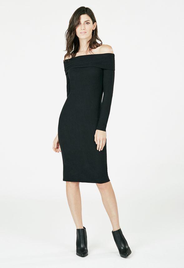 af6199a3d6 Off Shoulder Midi Dress Clothing in Black - Get great deals at JustFab